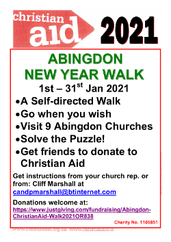 Christian Aid walk - January 2021