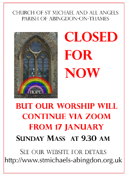 closed for now: Sunday worship online through Zoom from 17 January 2021 see pew leaflet for more information
