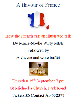 Cheese and wine evening 25 September 7.00 pm
