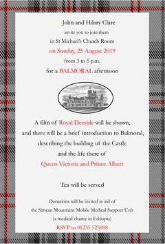 Balmoral Afternoon, Sunday 25 August 3pm to 5pm