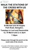 Poster for Stations of the Cross, Tuesdays in Lent at 7.30 pm except 26 March